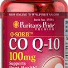 Puritan's Pride Q-SORB™ Co Q-10 100 mg  100 mg / 120 Softgels /