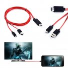 MHL micro USB 1080P HDMI HDTV AV TV Cable Adapter Cord For Samsung Galaxy Note 4   JT2