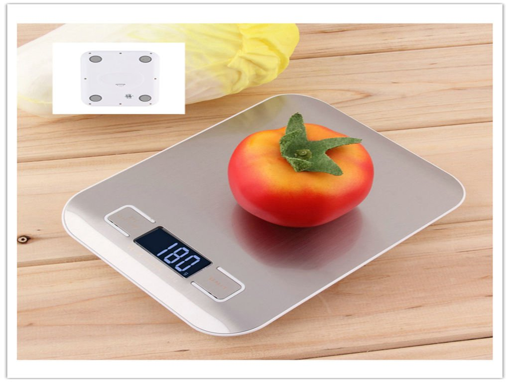 11lb x 0.05oz Slim LCD Digital Kitchen Scale 5Kg x 1g       VW1