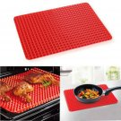 Pyramid Pan Non Stick Fat Reducing Silicone Cooking Mat Oven Baking Tray Sheets       VW1