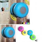 Waterproof Wireless Bluetooth Handsfree Mic Suction Shower Speaker     VW1  (blue)