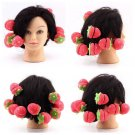 12pcs Foam Strawberry Balls Soft Sponge Hair Curlers Rollers Bun Round Tool    VW1