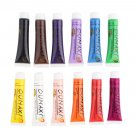 12 Colors 3D Nail Art Paint Tube Draw Painting Acrylic Nail Art Tip UV Gel    VW1