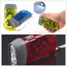 3 LED Dynamo Wind up Flashlight NR Torch        VW1
