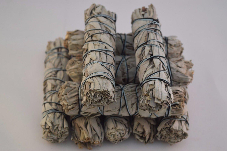 "California White Sage Smudge Incense 4""- 4 1/2"" Bundle (10 pcs)    VW1"