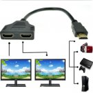 1080P HDMI Port Male to 2 Female 1 In 2 Out Splitter Cable Adapter Converter     V1
