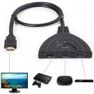 3 Port HDMI 1080P 3:1 Switcher Adapter for connecting multiple devices to 1 TV     V1
