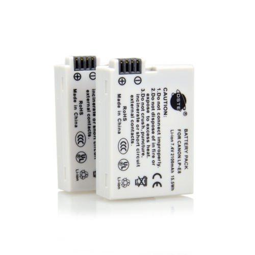 DSTE 2x LP-E8 Battery for Canon EOS Digital Rebel T3i T4i Kiss X4 X5 X6i Camera      VW0