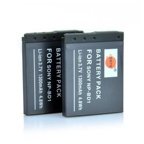 2 x DSTE NP-BD1 Digital Battery For Sony DSC-G3 DSC-T2 DSC-T70 DSC-T90 DSC-T200       VW0