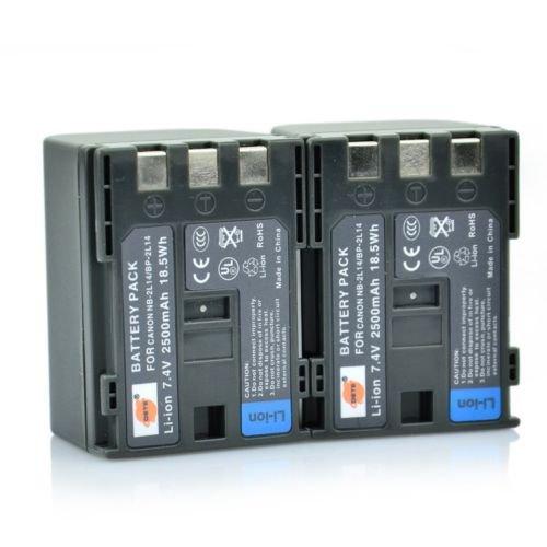 2PCS DSTE NB-2L14 Battery for Canon IVIS HG10 HV20 FV500 FVM20 FVM30 Camera           VW0