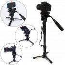 YUNTENG VCT-288 Camera Monopod + Fluid Pan Head + Unipod Holder For DSLR Camera          VW2