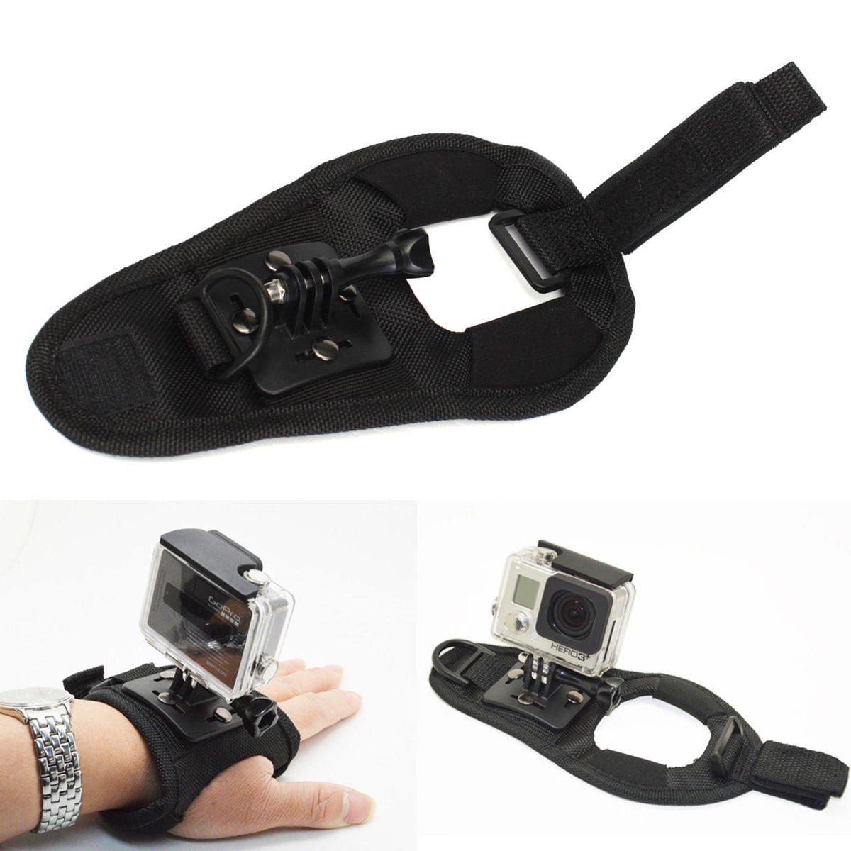 Glove Wristband Wrist Band Mount Strap Accessories For GoPro Hero 3+ 4 Session       VW2