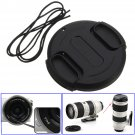 40.5mm Front Lens Cap Hood Cover Snap-on For Canon Nikon Pentax Fuji Sony Black     VW2
