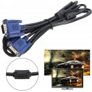 10ft VGA SVGA 15Pin Male to Male M/M Monitor Cable Lead For PC TV Laptop    VW2
