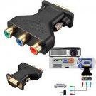 3 RCA RGB Video Female To HD15-Pin VGA Styple Component Video Jack Adapter     VW2