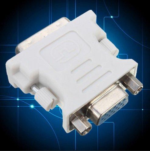 DVI DVI-D (24+1) Dual Link Male to VGA 15 Pin Female Adapter Converter PC Laptop      VW2