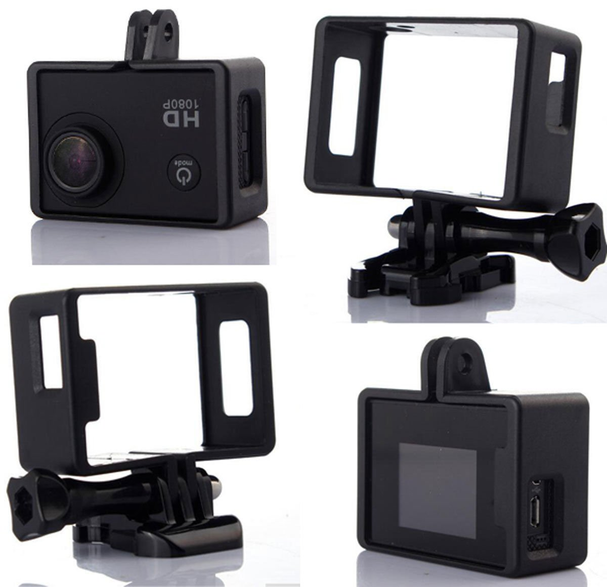 Camera Border Frame Mount Protective Housing Case Cover For SJ4000/SJ4000WIFI     FR5