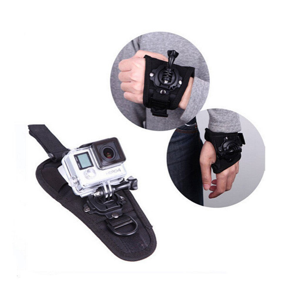 Waterproof 360-degree Rotation Glove Wrist Hand Strap Band For Go Pro Hero SJCAM     FR5