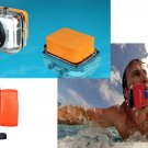 Float Box Floaty Backdoor Floating Bobber with 3M Adhesive For GoPro Hero 4 3 2     FR5