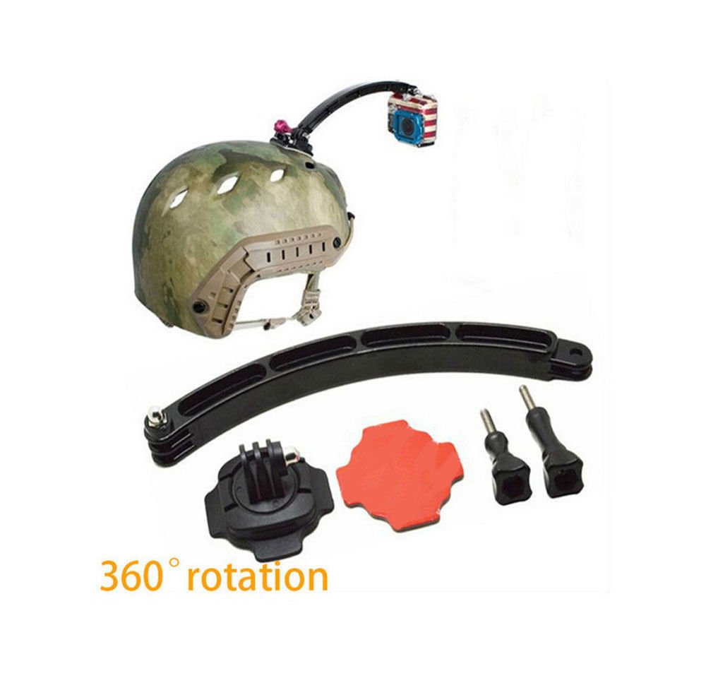 360° Rotate Curved Adhesive Helmet Mount Extension Arm Kit for GoPro Hero 3+321    FR6