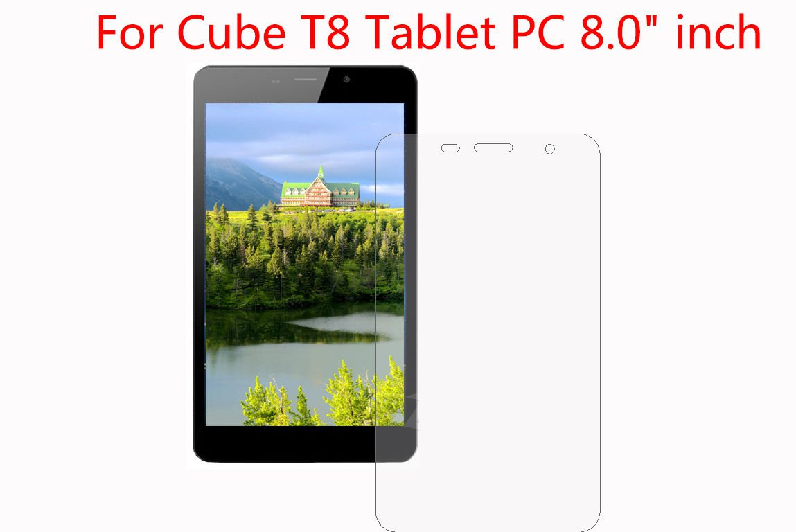 """4pcs LCD Screen Protector Guard Shield Cover Film For Cube T8 Tablet 8.0"""" inch      BT1"""