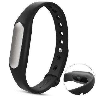 Original Xiaomi Mi Band 1S Heart Rate Wristband with White LED  -  BLACK 157998101