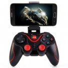 T3+ Wireless Bluetooth 3.0 Gamepad Gaming Controller for Android Smartphone  -  BLACK 133120401