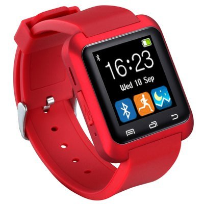 U80 Smart Bluetooth Watch Call Message Reminder Sleep Monitor  -  RED 123159201