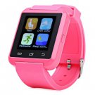 U8S Smart Bluetooth 3.0 Watch Outdoor Sports Smartwatch  -  PINK 167660904