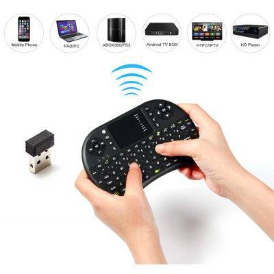 UKB - 500 - RF 2.4GHz Mini Wireless Keyboard with Touch Pad