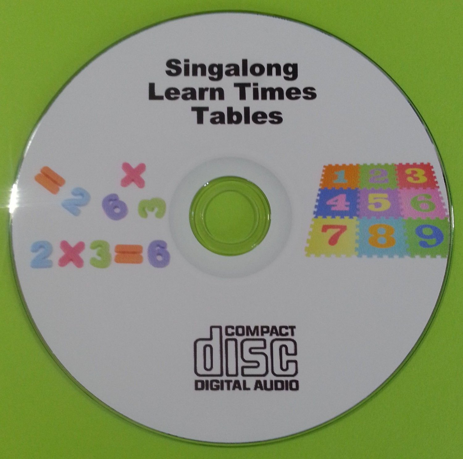 Childrens Singalong Learn Times Tables Games CD Improve Maths Multiplication    HG5