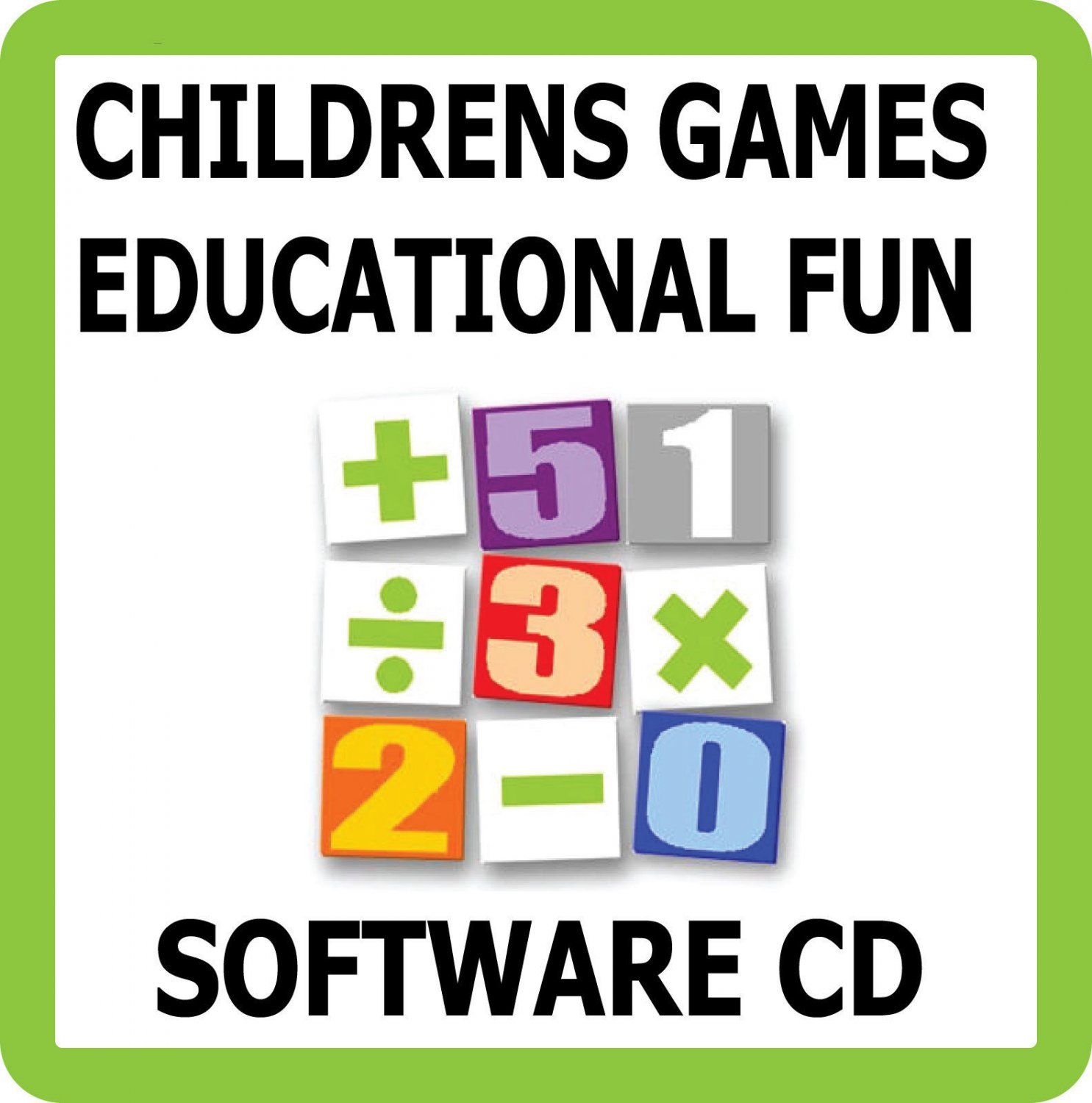Childrens Fun Learning Educational Games Software CD Kids Learn Maths & English    HG5