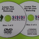 Learn The Art Of Line Dancing Step By Step Tutorial DVD Plus Free Audio CD    HG5