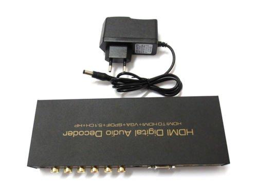 HDMI Digital Multi-Channel To HDMI / VGA + Analog Surround Sound Audio Decoder     AS1