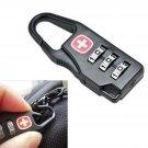 3 DIAL Combination Luggage Travel Zipper Bag Safe Padlock Security Code Lock