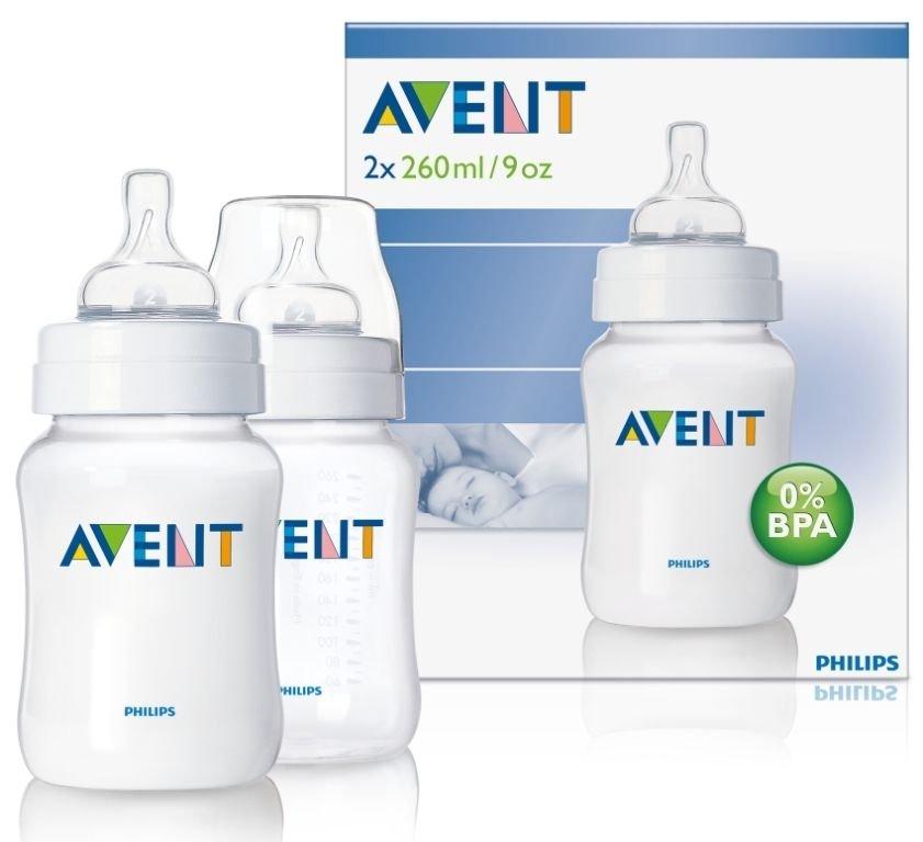 Avent  260ml/9oz Feeding Bottles (Twin pack)