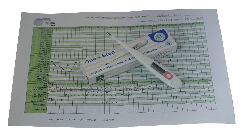 Professional BBT Fahrenheit Digital Basal Ovulation Thermometer +Fertility Chart    BR