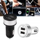 Dual 2 Port USB 5V 2.1A 1A Car Charger Adapter For iPhone 6 7 Plus Samsung DC12V