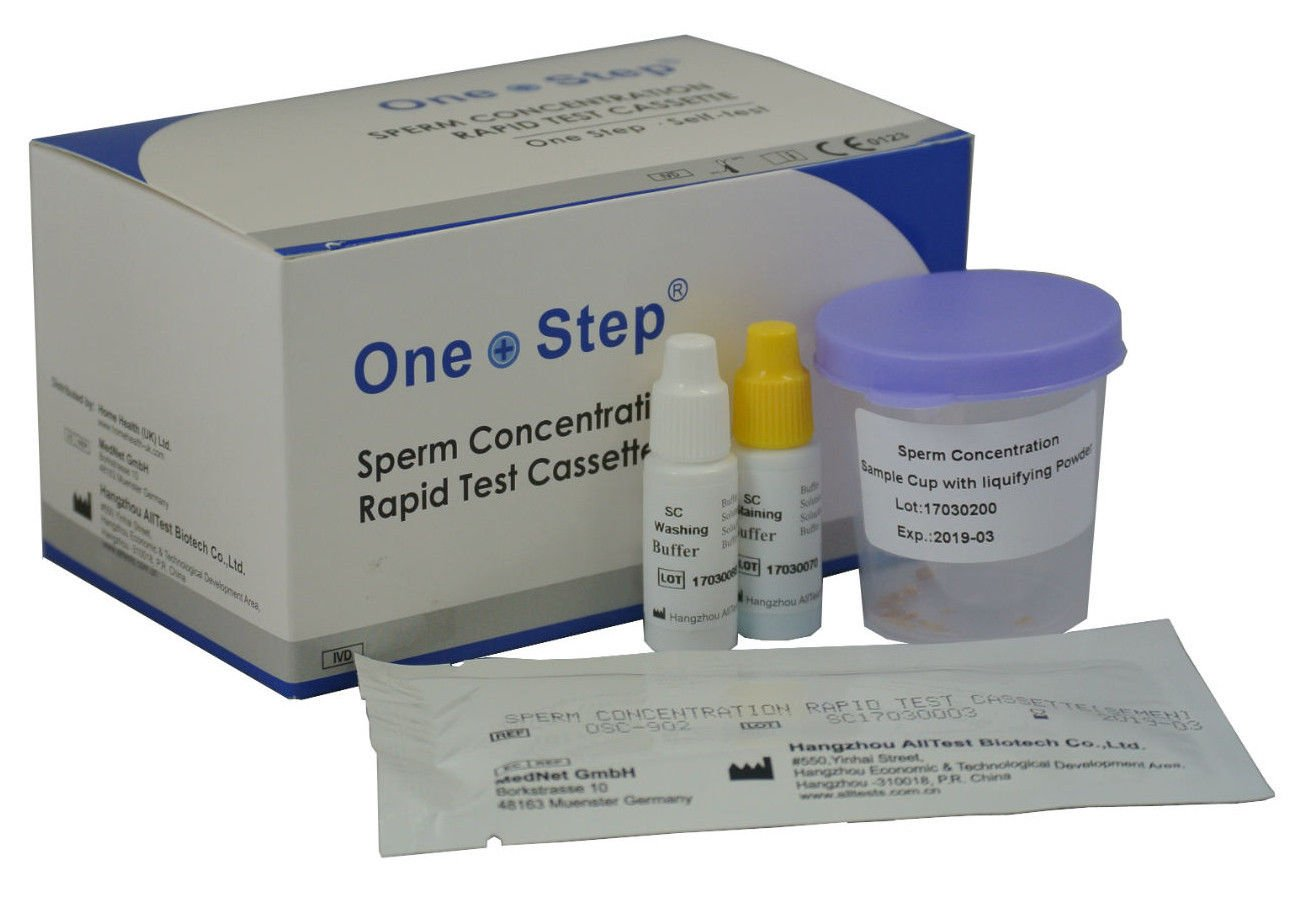Male Fertility Sperm Concentration Test, Active Count Kit - One Step Sperm check