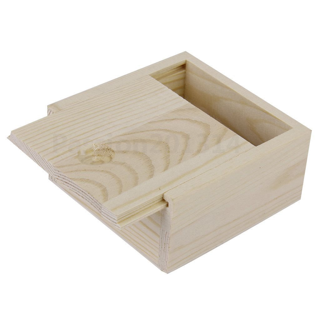 Small Plain Wooden Case Storage Box for Jewellery Small Gadgets Gift Wood