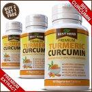 ORGANIC TURMERIC 95% CURCUMIN TUMERIC CAPSULES ANTIOXIDANT CURCUMIN PILLS PURE