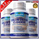 180 Colon Detox Cleanse Pills Flush Pounds Lose Weight Loss Diet Slimming Fiber