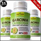 3 x BOTTLES 180 Capsules GARCINIA CAMBOGIA Weight Loss Diet 3000mg Daily HCA 95%
