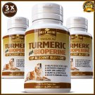Turmeric Curcumin Hip Stiff Joint Support Capsules Supplement Dogs Pets Tumeric