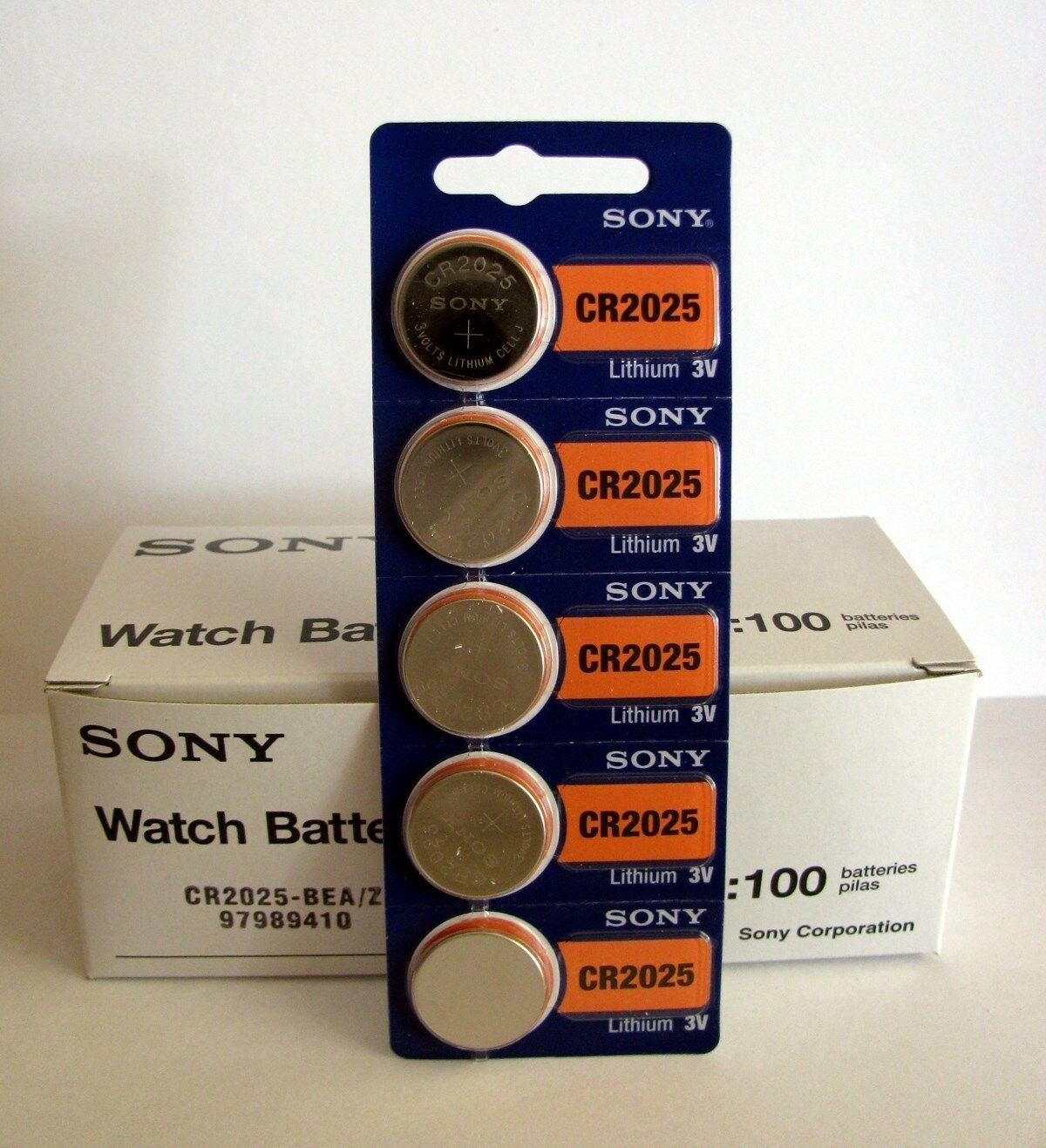 100 pc SONY CR2025 CR 2025 3V Lithium Batteries Expire 2028 (100 Coin Cells)