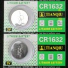 5 CR1632 BR1632 CR 1632 3 Volt Lithium Button Cell Battery