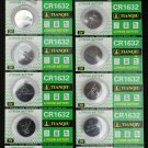 10 CR1632 BR1632 CR 1632 3 Volt Lithium Button Cell Battery
