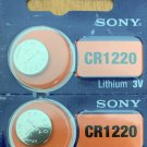 2- Sony CR 1220 LITHIUM BATTERY 3V