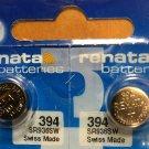 2-Renata 394 Battery SR936SW SR45 Silver Oxide