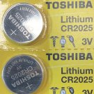 2-Toshiba 2025 Lithium Battery ECR2016 CR2016 BR2016 3V